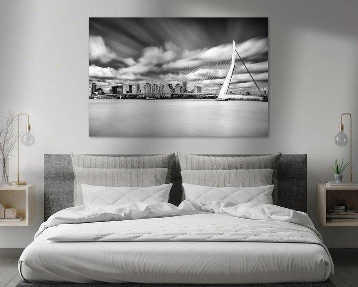 Sfeerimpressie: Erasmusbrug - Long Exposure - Rotterdam van Tom Roeleveld