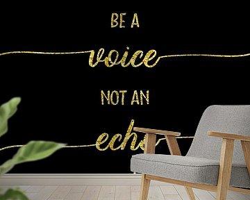 TEKST TYPE van GOUD-je stem niet een echo van Melanie Viola