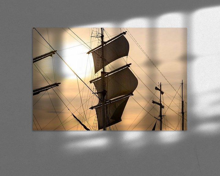 Sfeerimpressie: Oud zeilschip bij de rivier IJssel tijdens het 2018 Sail  Kampen  van Sjoerd van der Wal