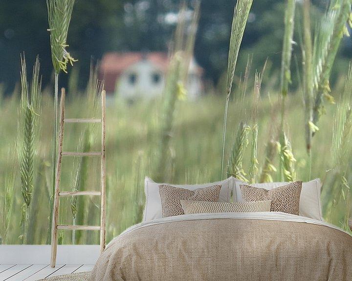 Sfeerimpressie behang: Idylische droomplek te midden van Korenvelden van timon snoep