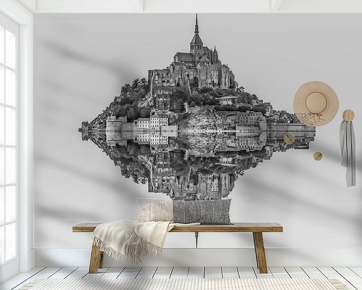 Sfeerimpressie behang: Le Mont Saint Michel van Rene Ladenius Digital Art