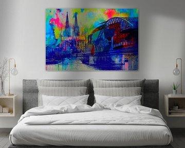 Kölner Dom Skyline - City Dream van Felix von Altersheim