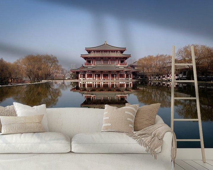 Beispiel fototapete: Traditioneller chinesischer Tempel in Xi'an von Thijs van den Broek