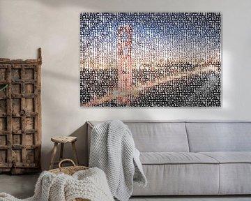 Typografie | kunst SAN FRANCISCO Golden Gate Bridge  van Melanie Viola