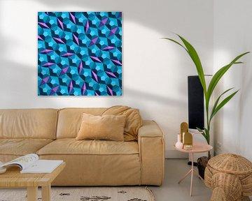 Mosaik in blau und violett von Andree Jakobson