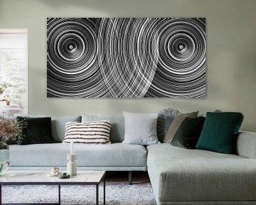 Cirkels met interferentie in zwart-wit van Andree Jakobson