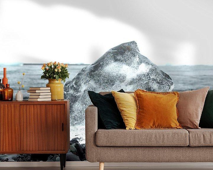 Sfeerimpressie behang: Icelandic Ice van Diebe Media