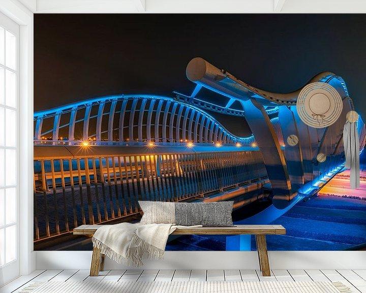 Sfeerimpressie behang: Meydan Bridge & Beyond van Michael van der Burg