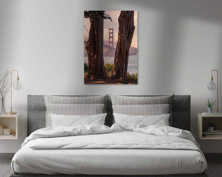 Sfeerimpressie: Golden Gate bridge van Photo Wall Decoration