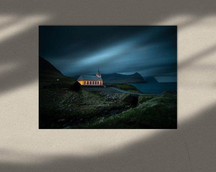 Sfeerimpressie: De kerk van Viðereiði van Nando Harmsen