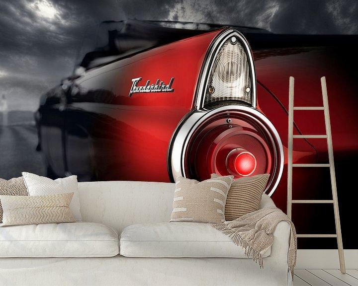 Sfeerimpressie behang: 1955 Ford Thunderbird van Thomas Boudewijn