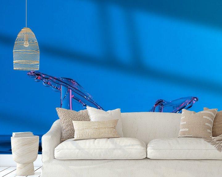 Sfeerimpressie behang: Dansende druppels van Leo Luijten