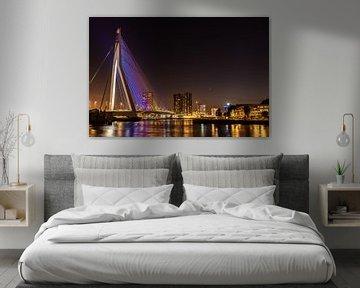 Die Erasmus-Brücke bei Nacht von Gerry van Roosmalen
