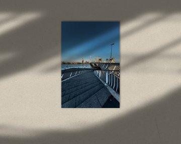Treppenbau an der Erasmus-Brücke von Gerry van Roosmalen