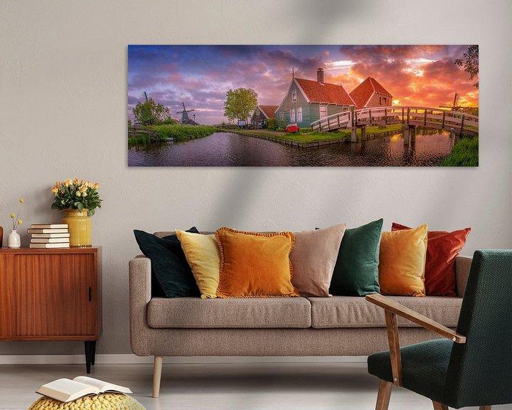 Sfeerimpressie: Zaanse Schans Panorama van Dennis Donders