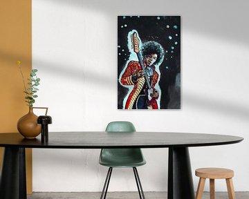 Jimi Hendrix von Adri van Kooten