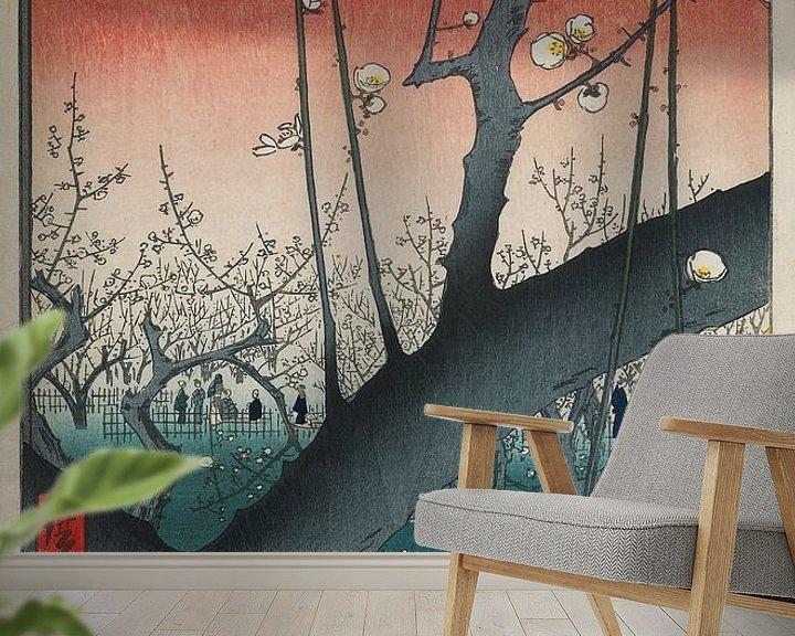 Impression: Pflaumenobstgarten in Kameido (Hiroshige)