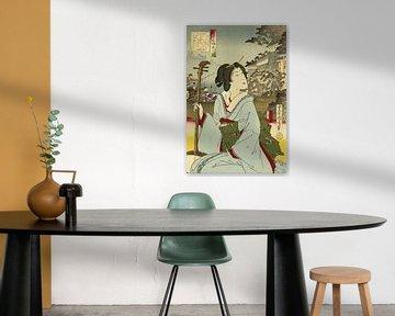 Vintage Geisha door Toyohara Kunichik