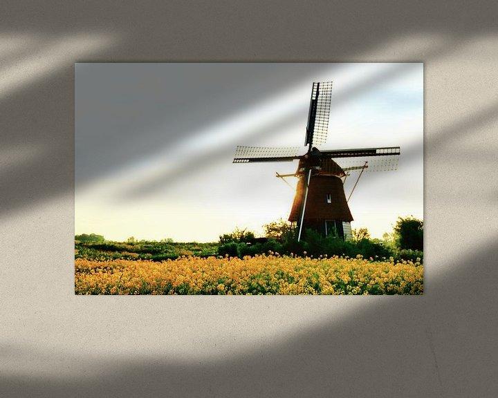 Sfeerimpressie: Lentebeeld van Molen de Hommel - Molenplas Haarlem van Ernst van Voorst