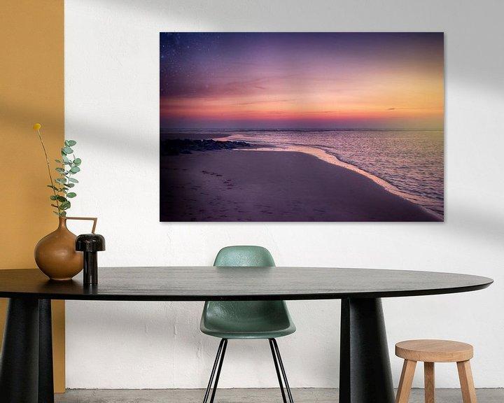 Sfeerimpressie: zonsondergang karwijk  van Stephanie Prozee