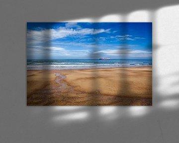 strand en zee Nieuwvliet Bad van Eugene Winthagen