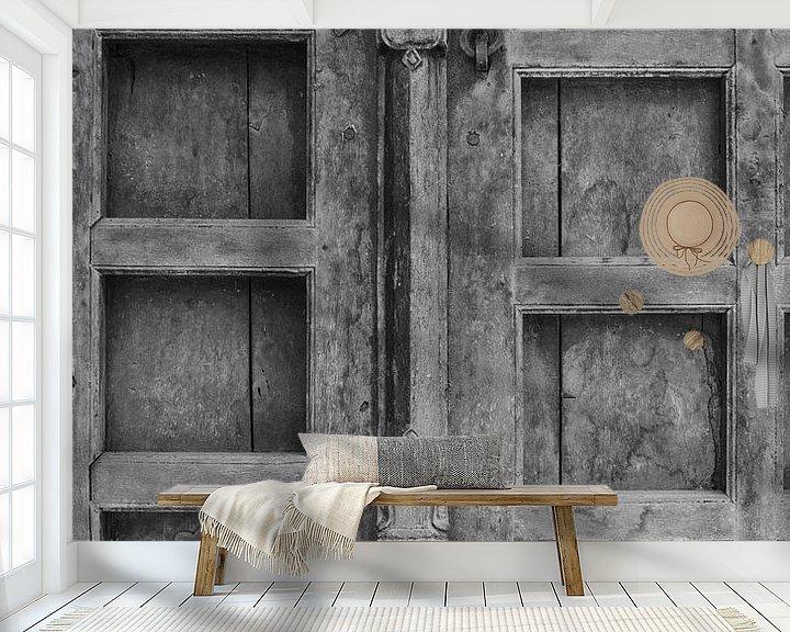 Sfeerimpressie behang: zwart wit deur van Jelle  Beuzekom