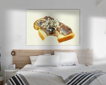 Stilleven van Haring en Wittebrood van Yvonne Smits