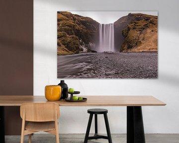 Skógafoss waterfall van Andreas Jansen