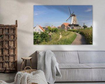 Uitzicht over Willemstad van Charlene van Koesveld