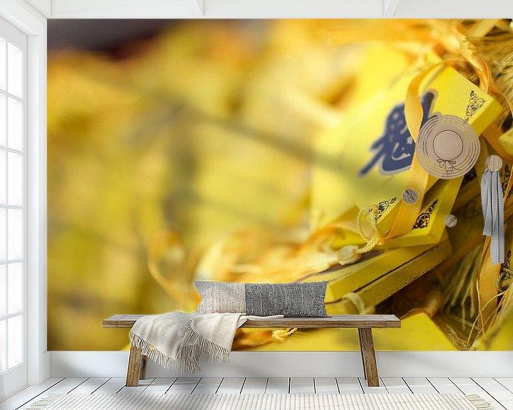 Sfeerimpressie behang: Geluks wensen van Jelle  Beuzekom