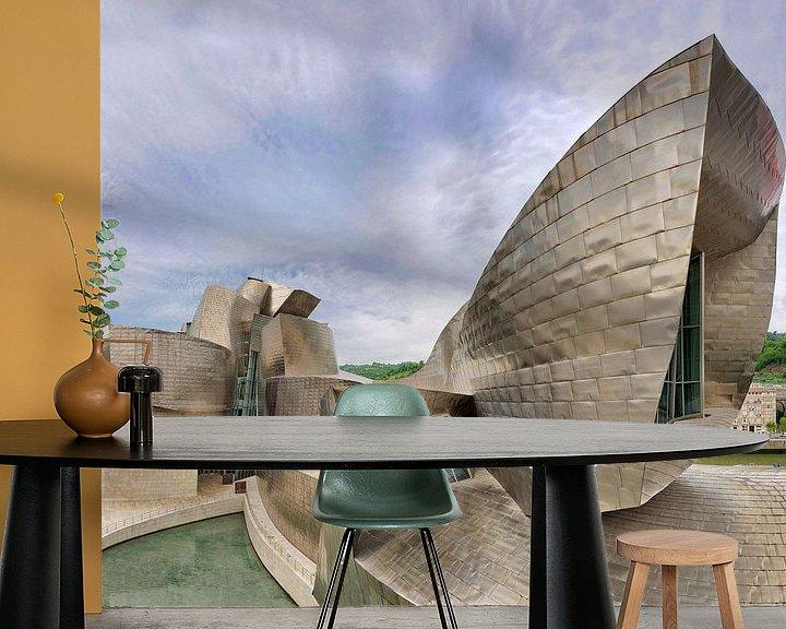Sfeerimpressie behang: Guggenheim Museum Bilbao- architect Frank Gehry van Dirk Verwoerd