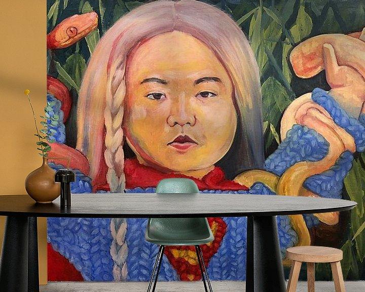 Beispiel fototapete: Kim Jong-un als Supergirl von Bert Jan Nieuwenhuize