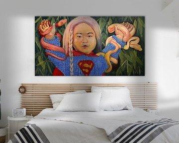 Kim Jong-un als Supergirl von Bert Jan Nieuwenhuize
