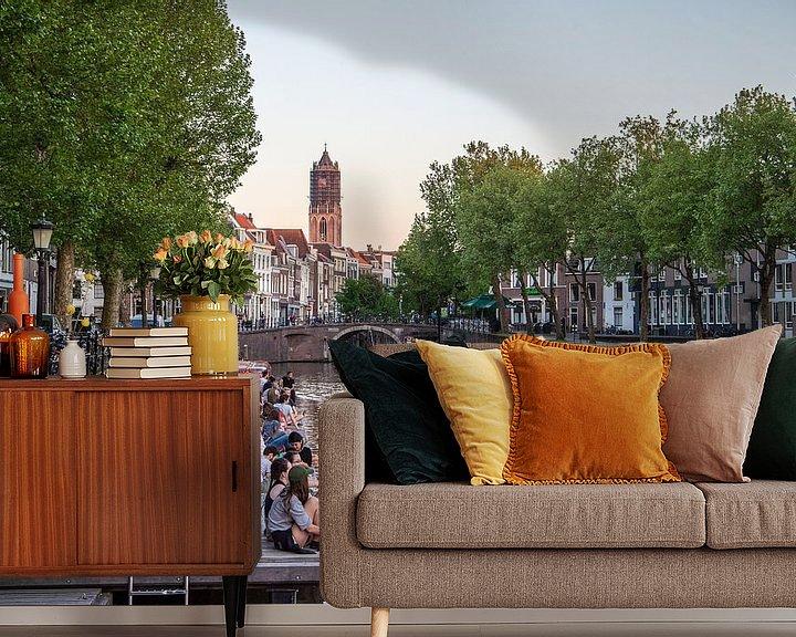Sfeerimpressie behang: Een prachtige lenteavond in Utrecht van De Utrechtse Internet Courant (DUIC)