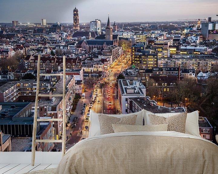 Sfeerimpressie behang: Prachtig uitzicht over Utrecht van De Utrechtse Internet Courant (DUIC)