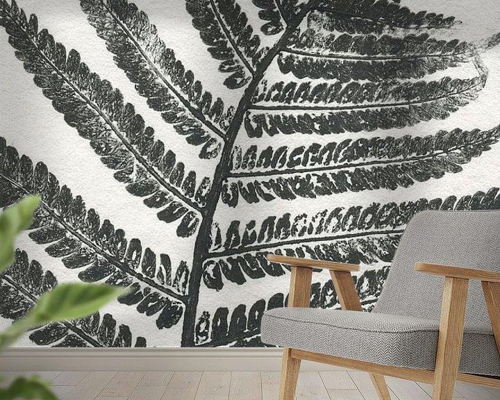 Sfeerimpressie behang: Tropisch blad (gezien bij vtwonen)