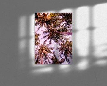PASTEL PALM TREES no5b van Pia Schneider