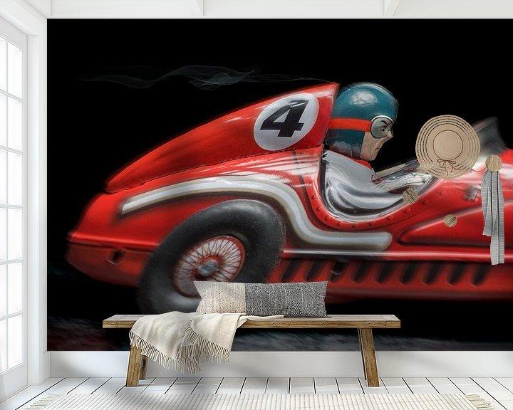 Sfeerimpressie behang: Rode racewagen- 1141 van Rudy Umans