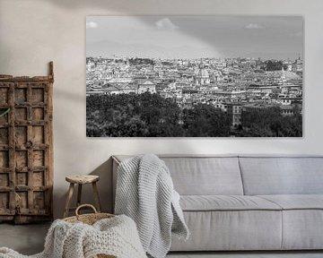 ein schöner Überblick über die Stadt von Rom, Italien, in Schwarzweiss von Marc Goldman