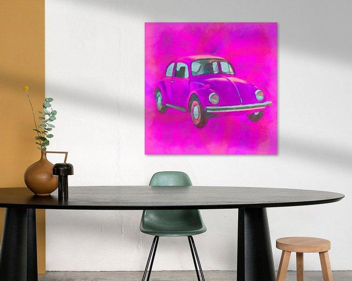 Sfeerimpressie: Kever op roze van Joost Hogervorst