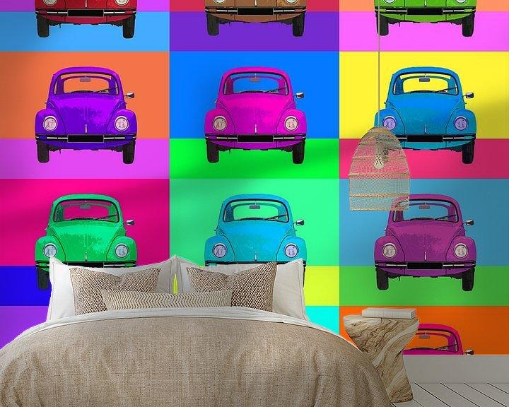 Beispiel fototapete: Pop Art VW Käfer von Joost Hogervorst