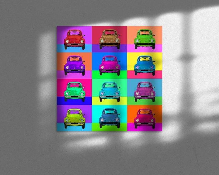 Beispiel: Pop Art VW Käfer von Joost Hogervorst