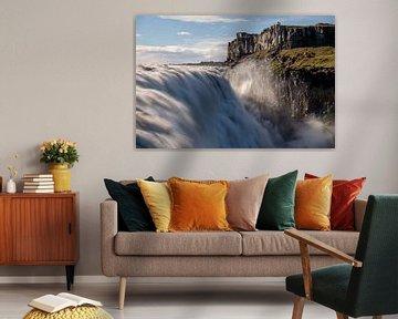 De imposante Dettifoss in Noord West IJsland
