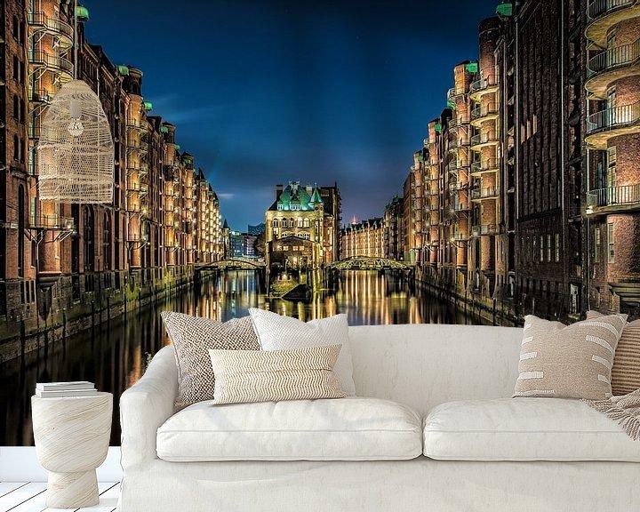 Beispiel fototapete: Wasserschloss Hamburg von Alexander Schulz