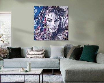 Linda Evangelista Plakative Fashion Collage van Felix von Altersheim