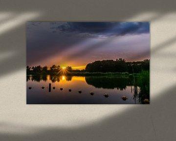 Stilte ~ Zonsondergang, Recreatiegebied Vlietlanden