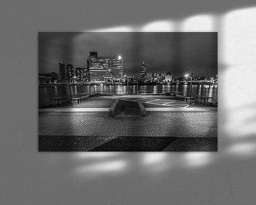 Zicht op de Maas, Rotterdam von Peter Hooijmeijer