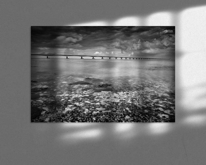 Sfeerimpressie: Lange sluitertijd Zeelandbrug (VII) van Mirjam Boerhoop - Oudenaarden