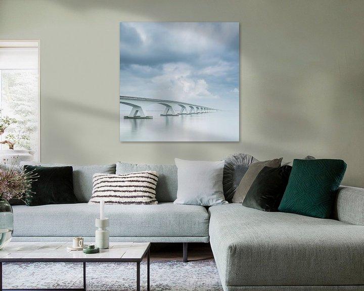 Sfeerimpressie: Lange sluitertijd Zeelandbrug (VIII) van Mirjam Boerhoop - Oudenaarden
