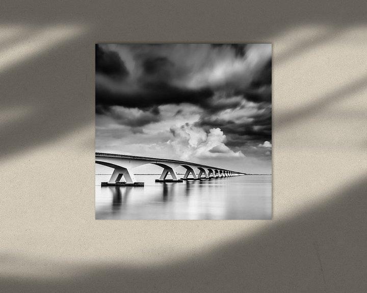 Sfeerimpressie: Lange sluitertijd Zeelandbrug (IX) van Mirjam Boerhoop - Oudenaarden